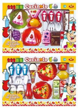Set pizza/torta 15 pz in box h26*l40 cm
