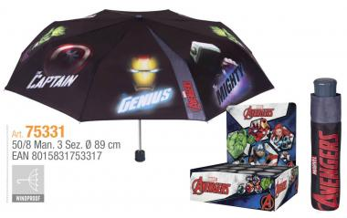 Ombrello Mini Manuale 50 cm Antivento Avengers