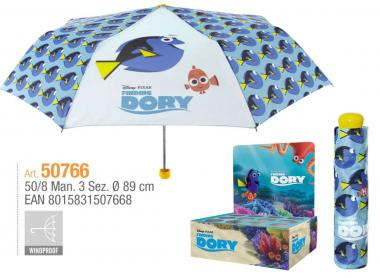 Ombrello Mini Manuale 50 cm Antivento Finding Dory