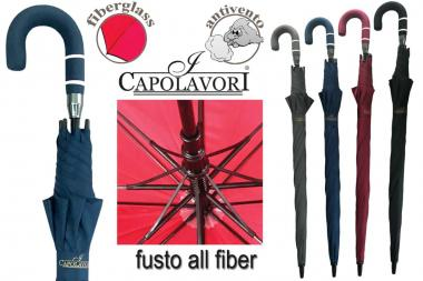 Ombrello Golf All Fiber Manico Curvo Acril