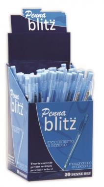 Penna a scatto Blitz Blu In Box 1/50