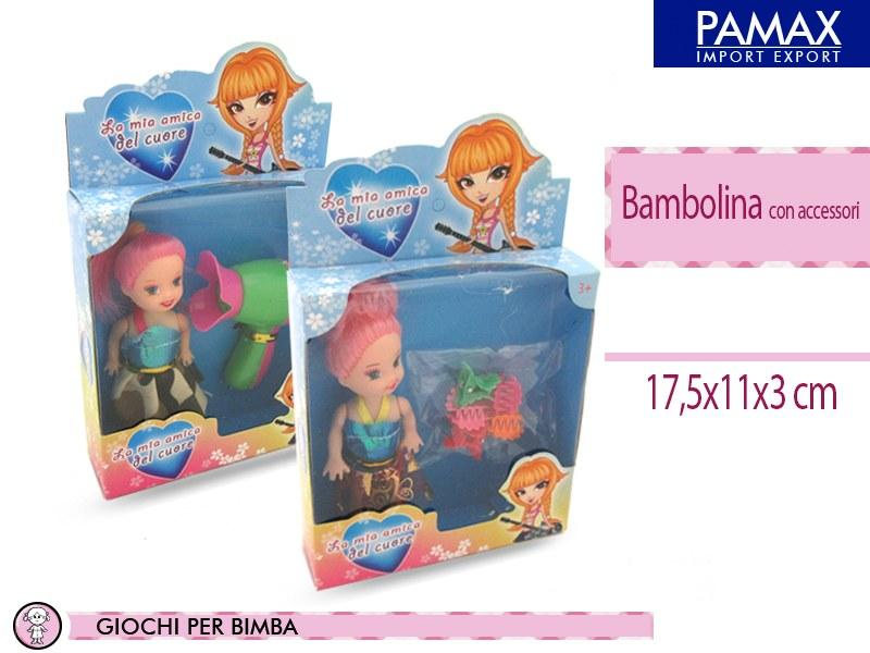 Bambolina c/accessori 2ass