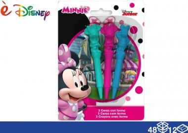 E' disney colori a cera sag 3 pz minnie 48/12